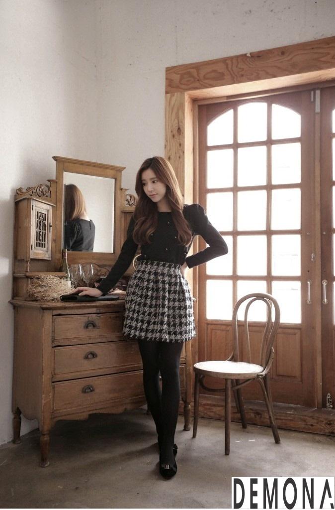 Muôn kiểu chân váy xòe dáng ngắn phong cách hàn quốc - Hình 8