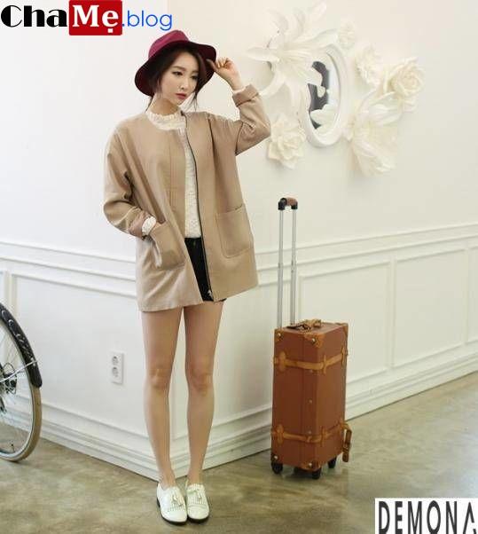Những kiểu áo khoác nữ dáng ngắn đẹp hợp thời trang thu đông - Hình 1