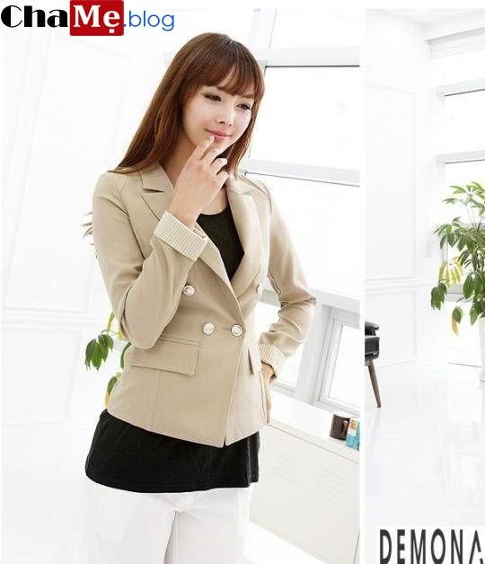 Những kiểu áo khoác nữ dáng ngắn đẹp hợp thời trang thu đông - Hình 13