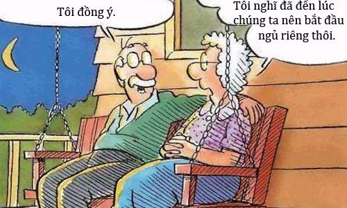 Trưa cười: Vợ phát hoảng vì chồng muốn ngủ riêng - Hình 1