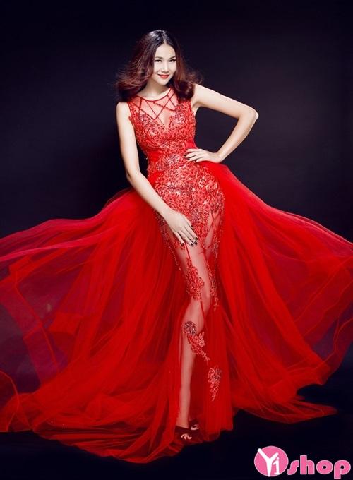 Váy đầm cưới xuyên thấu đẹp được cô dâu ưa chuộng - Hình 3