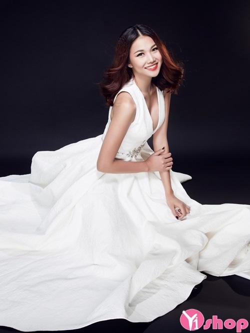 Váy đầm cưới xuyên thấu đẹp được cô dâu ưa chuộng - Hình 7
