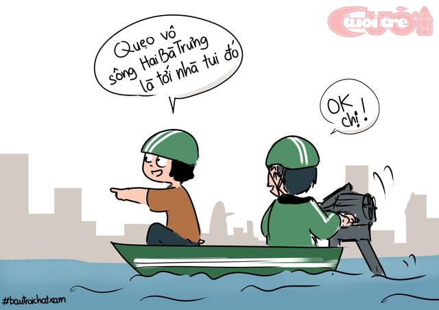 Sài Gòn bỗng thành dòng sông uốn quanh - Hình 7