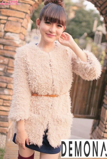 áo Khoác Lông Vũ Nữ đẹp Xu Hướng Hàn Quốc Thu đông Thời Trang