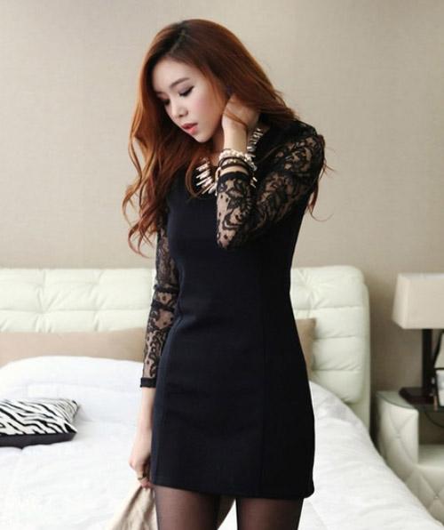 Váy đen - món đồ bạn nên có trong những ngày giữa thu - Hình 2