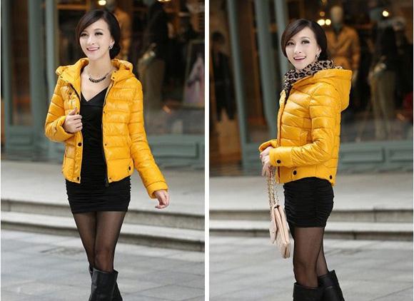 Áo khoác phao nữ dáng ngắn hàn quốc đẹp dễ thương thu đông - Hình 11