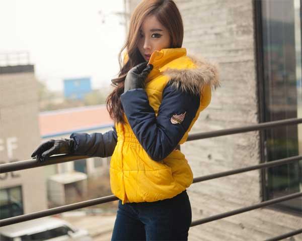 Áo khoác phao nữ dáng ngắn hàn quốc đẹp dễ thương thu đông - Hình 13