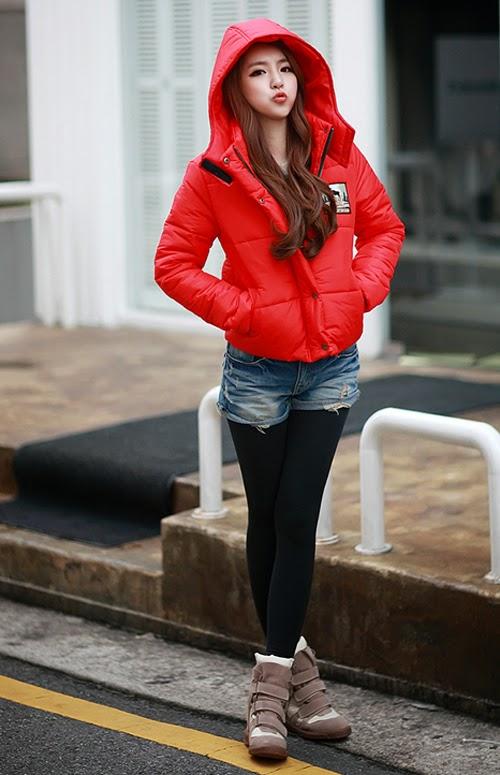 Áo khoác phao nữ dáng ngắn hàn quốc đẹp dễ thương thu đông - Hình 9