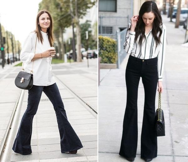 4 phong cách với quần jeans ống loe - Hình 5