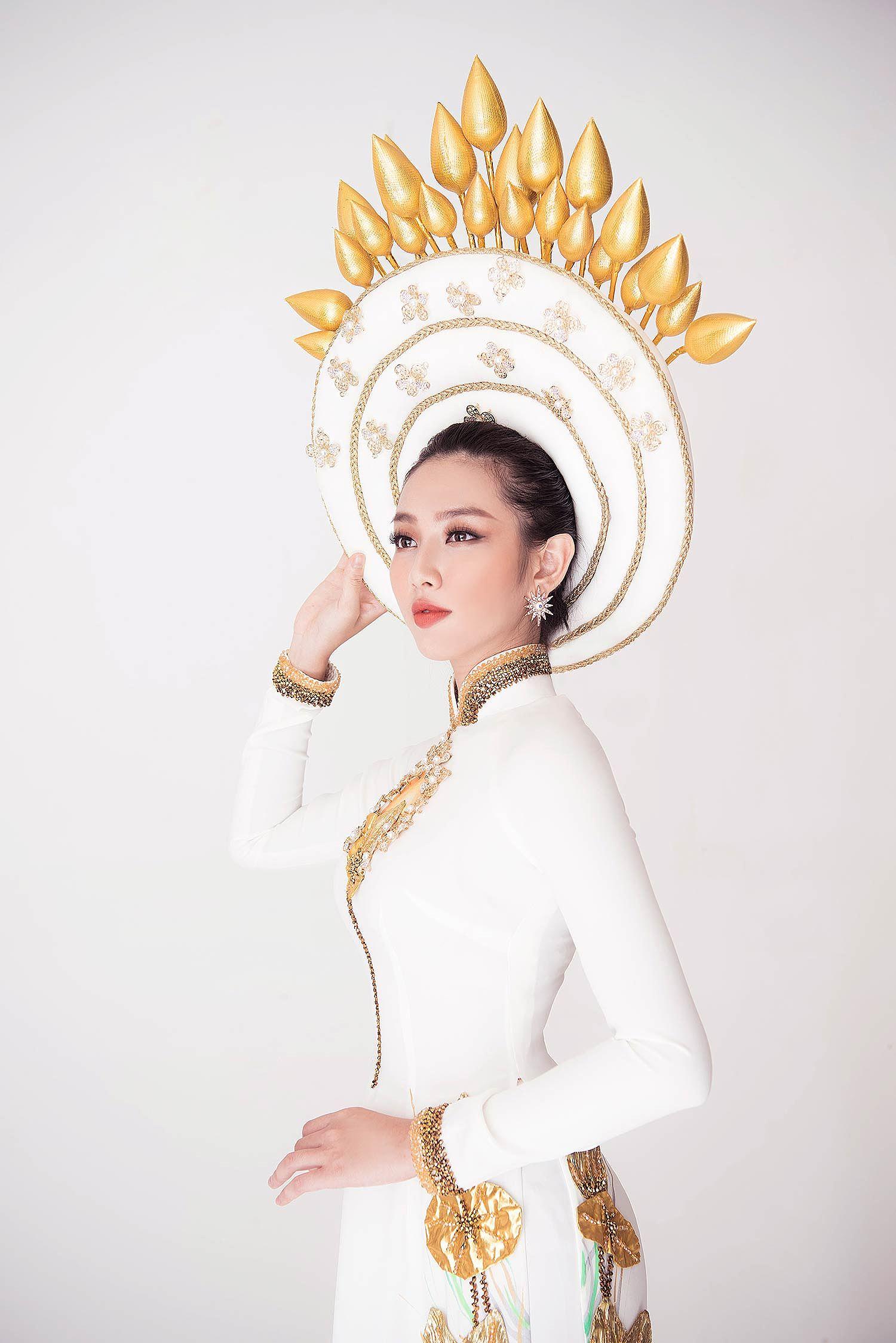 Thùy Tiên khoe vẻ đẹp nền nã với quốc phục truyền thống - Hình 6