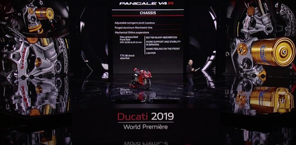 Ducati bất ngờ ra mắt siêu mô tô Panigale V4R 2019 với cánh gió và hàng loạt trang bị cao cấp - Hình 5