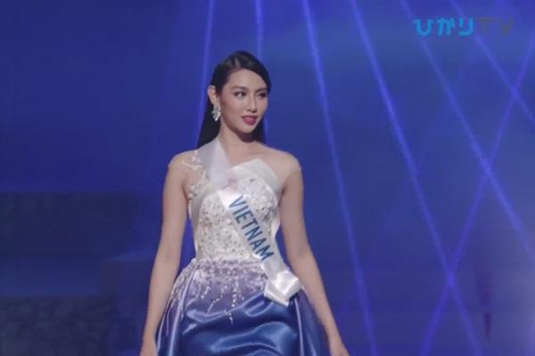 CLIP: Thùy Tiên bị loại cay đắng khỏi Top 15, Nhật Bản - Thái Lan - Philippines tiến xa Miss International 2018 - Hình 7