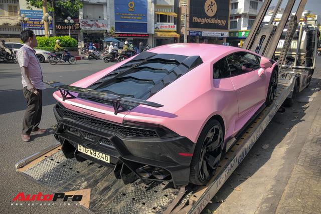Lamborghini Huracan màu hồng nữ tính của đại gia Bạc Liêu - Hình 1
