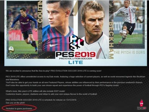 Konami ra mắt phiên bản Free-to-play cho Pro Evolution Soccer 2019