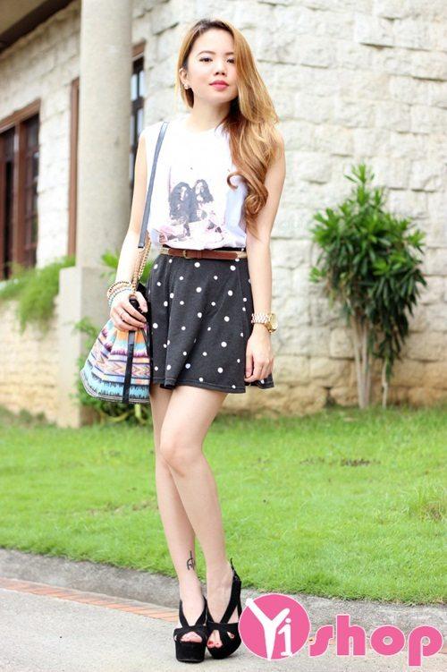 15  Chân váy đầm xòe đẹp phá cách nổi bật cá tính nàng công sở - Hình 11