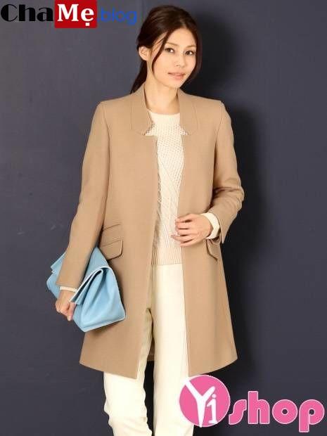 Áo khoác nữ không cổ đẹp đông khiến ai cũng phải ngoái nhìn - Hình 11