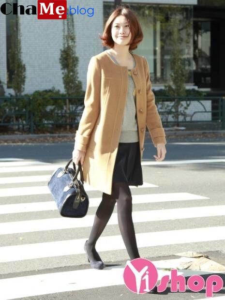 Áo khoác nữ không cổ đẹp đông khiến ai cũng phải ngoái nhìn - Hình 12
