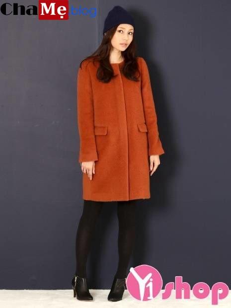 Áo khoác nữ không cổ đẹp đông khiến ai cũng phải ngoái nhìn - Hình 10