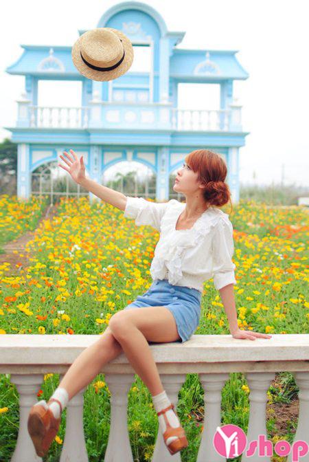 Áo sơ mi nữ kiểu Hàn Quốc đẹp thiết kế đơn giản tinh tế - Hình 11