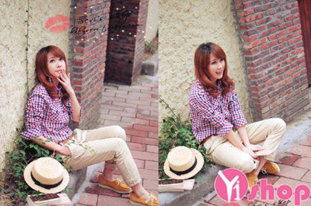 Áo sơ mi nữ kiểu Hàn Quốc đẹp thiết kế đơn giản tinh tế - Hình 4