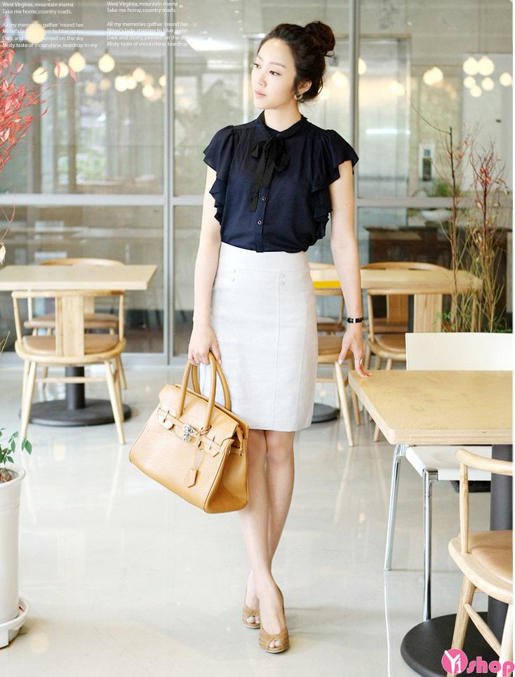 BST áo sơ mi nữ tay lỡ đẹp kiểu công sở phong cách cá tính - Hình 9