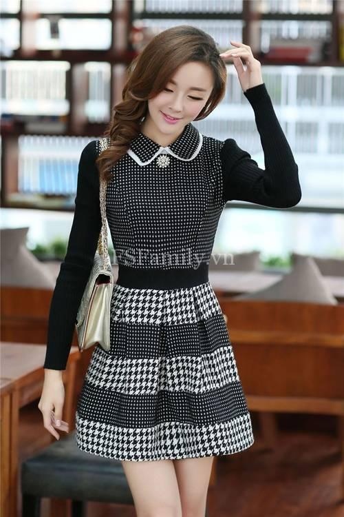 BST đầm dạ công sở đẹp phong cách thời trang Hàn Quốc mới nhất - Hình 2