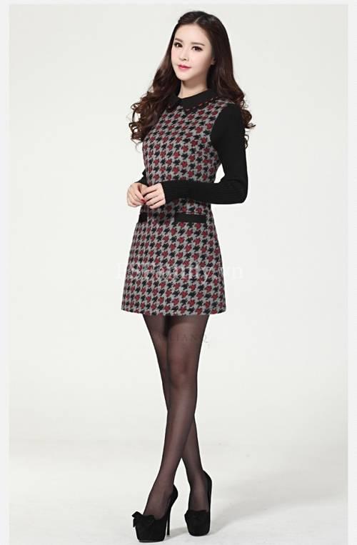 BST đầm dạ công sở đẹp phong cách thời trang Hàn Quốc mới nhất - Hình 9