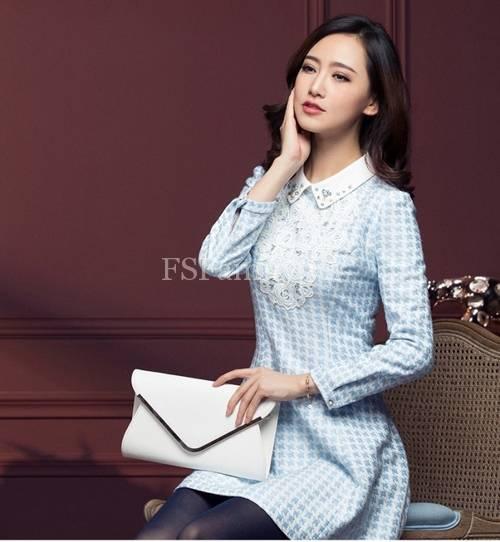 BST đầm dạ công sở đẹp phong cách thời trang Hàn Quốc mới nhất - Hình 3
