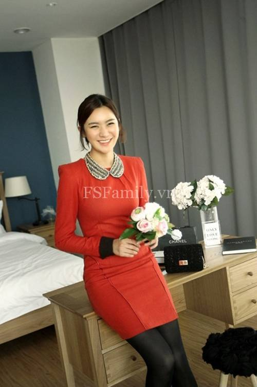 BST đầm dạ công sở đẹp phong cách thời trang Hàn Quốc mới nhất - Hình 13