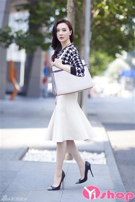 Chân váy đầm bút chì dài đẹp cho nàng công sở sang chảnh - Hình 6