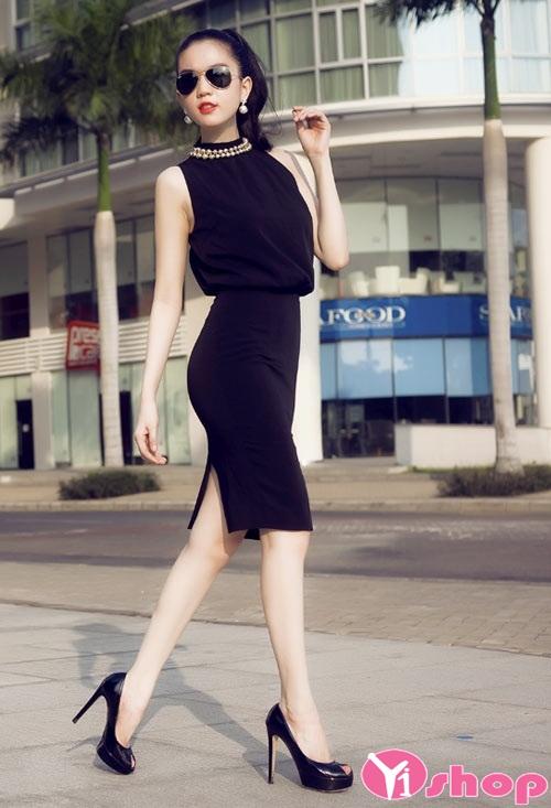 Chân váy đầm bút chì dài đẹp cho nàng công sở sang chảnh - Hình 12