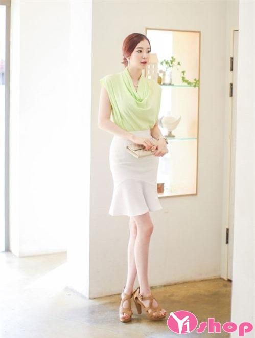 Chân váy đầm bút chì dài đẹp cho nàng công sở sang chảnh - Hình 8