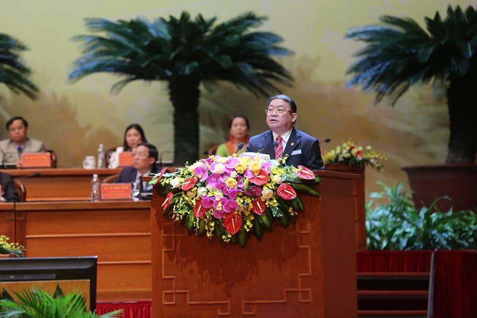 Chủ tịch Thào Xuân Sùng tuyên bố bế mạc ĐH Hội Nông dân Việt Nam VII - Hình 1