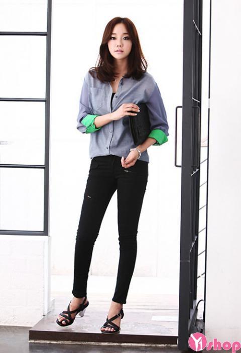 Mẫu áo sơ mi nữ công sở đẹp cá tính năng động - Hình 9