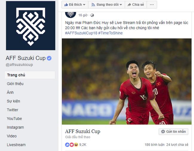 Trước thềm trận chung kết lịch sử, Đức Huy sẽ trả lời phỏng vấn trực tiếp trên trang Facebook chính thức của AFF Suzuki Cup - Hình 1