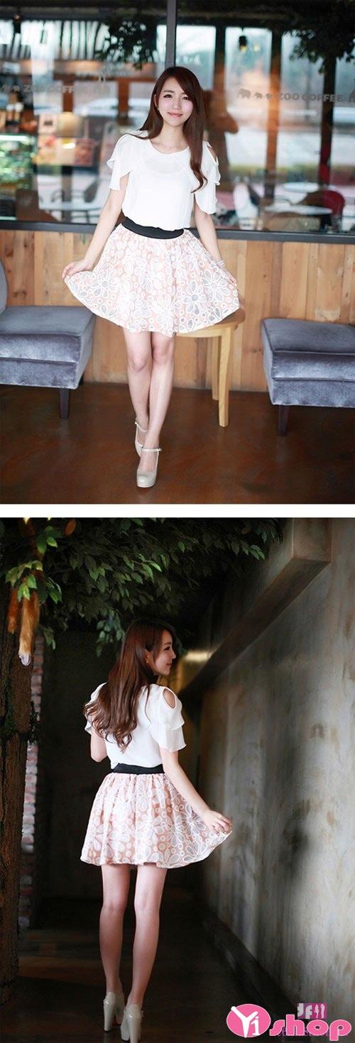 Váy đầm dáng xòe đẹp cho nàng có vòng mông nhỏ tự tin - Hình 4