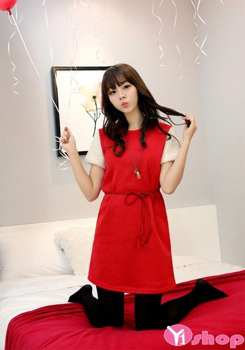 Váy đầm dáng xòe đẹp cho vẻ ngoài đáng yêu như teengirl xứ hàn - Hình 7