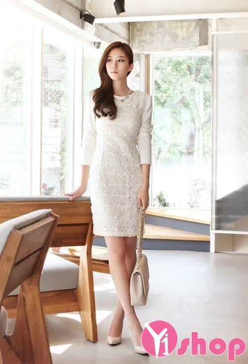 Váy đầm ren Hàn Quốc đẹp lung linh cho nàng đi dạ tiệc - Hình 11