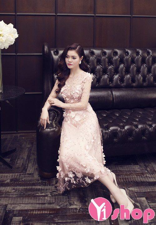 Váy đầm ren Hàn Quốc đẹp lung linh cho nàng đi dạ tiệc - Hình 7