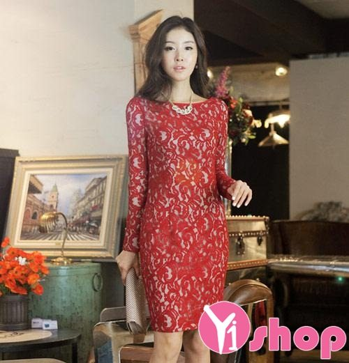 Váy đầm ren Hàn Quốc đẹp lung linh cho nàng đi dạ tiệc - Hình 14