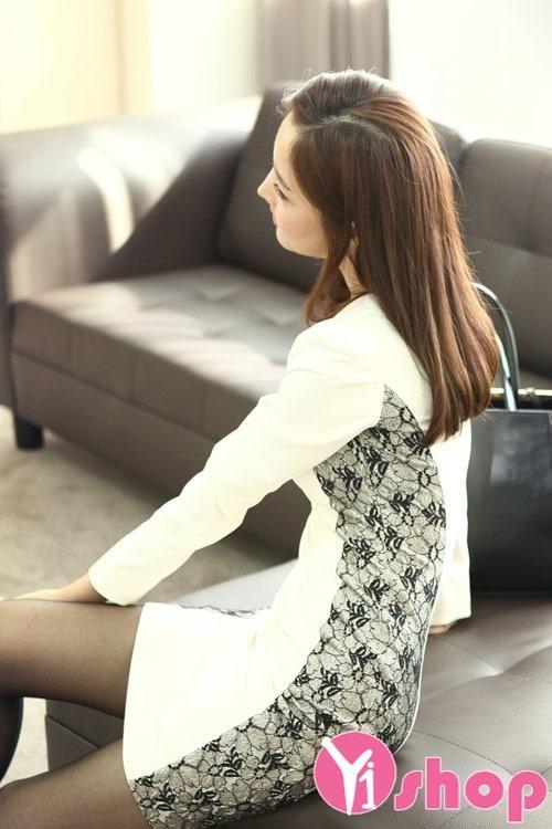 Váy đầm ren Hàn Quốc đẹp lung linh cho nàng đi dạ tiệc - Hình 9