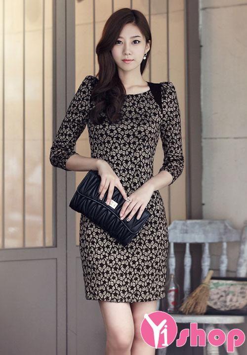 Váy đầm ren Hàn Quốc đẹp lung linh cho nàng đi dạ tiệc - Hình 13