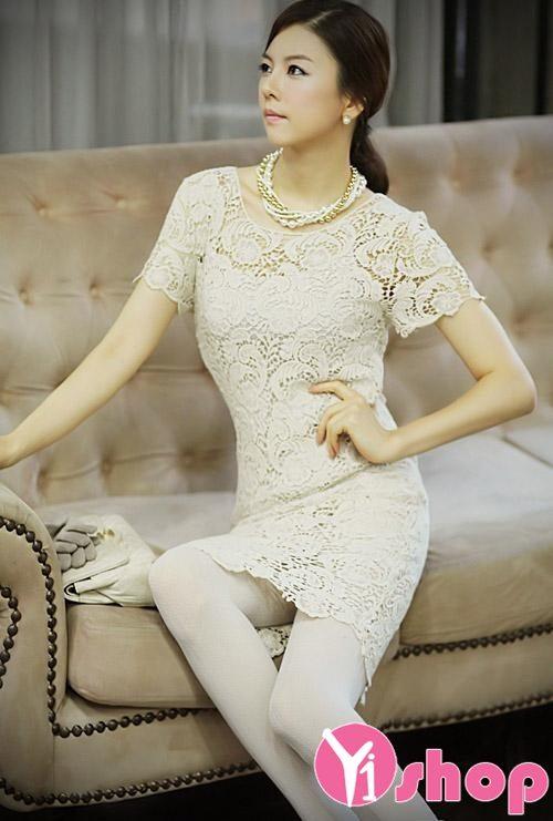 Váy đầm ren Hàn Quốc đẹp lung linh cho nàng đi dạ tiệc - Hình 15