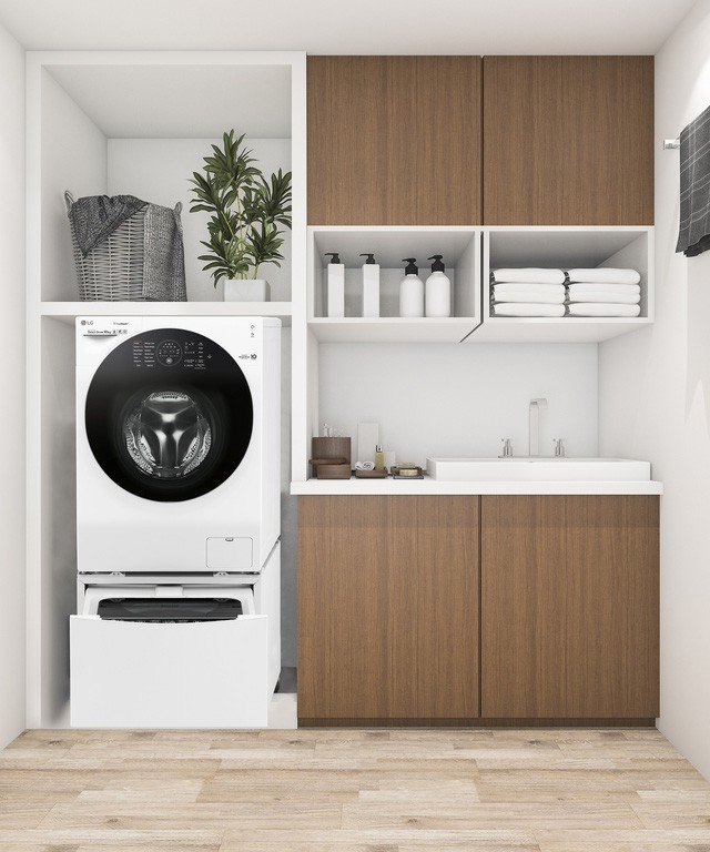 Mẹo thiết kế góc giặt tiện ích miễn chê cho căn hộ chung cư nhỏ - Hình 2