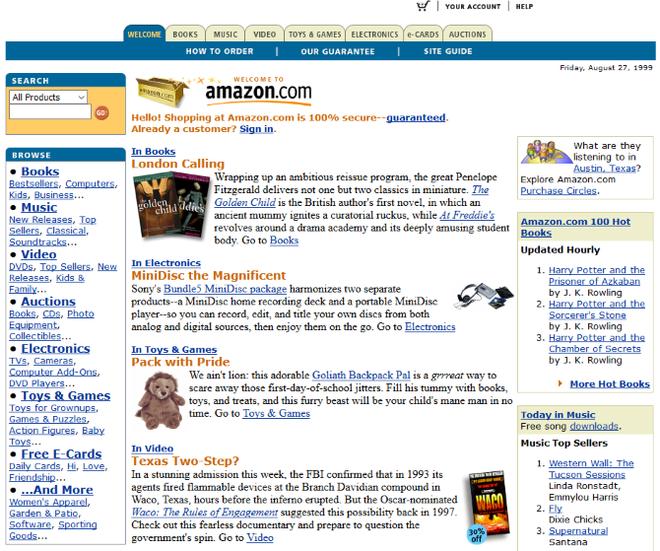 Quay ngược thời gian, xem 12 website nổi tiếng ngày xưa trông ra sao - Hình 7