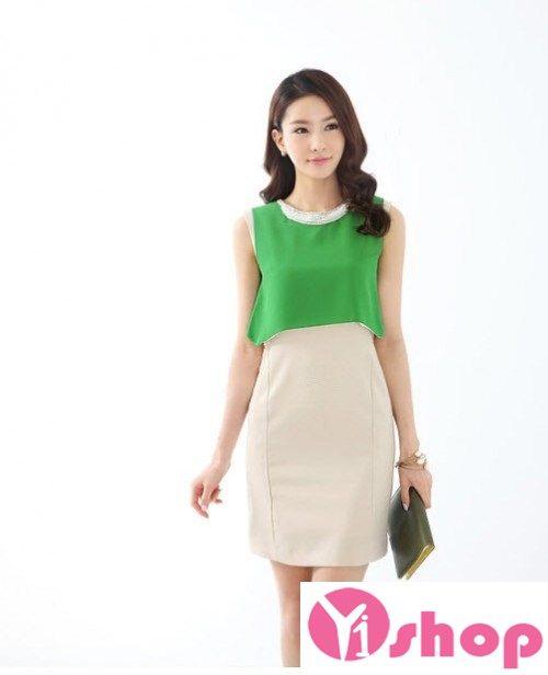 Váy đầm liền thân công sở đẹp Hàn Quốc cho người gầy trở nên đầy đặn - Hình 2