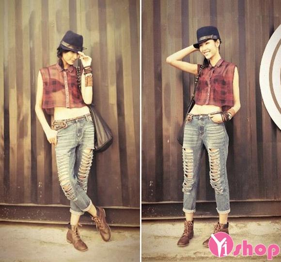 Áo sơ mi croptop nữ Hàn Quốc đẹp cho cô nàng cá tính - Hình 10
