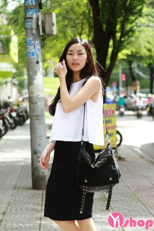 Áo sơ mi croptop nữ Hàn Quốc đẹp cho cô nàng cá tính - Hình 8