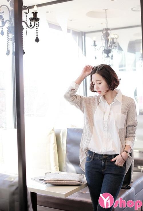 Áo sơ mi nữ dáng rộng đẹp Hàn Quốc phong cách sành điệu - Hình 6
