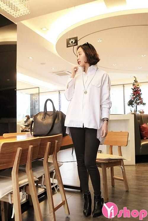 Áo sơ mi nữ dáng rộng đẹp Hàn Quốc phong cách sành điệu - Hình 2